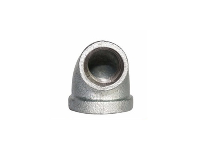 Square Head Beaded Malleable Iron Elbow BS Threaded Pipe Connectors