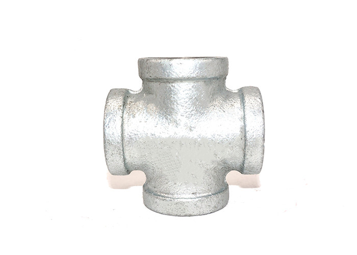 Fireproof Toilet Pipe Fitting Cross 4 Way Pipe Connector ISO 7/1 Standard