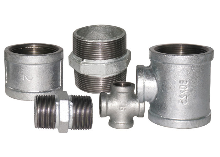 Industrial Malleable Iron Pipe Fittings Galvanized Pipe Connectors For Municipal Engineering