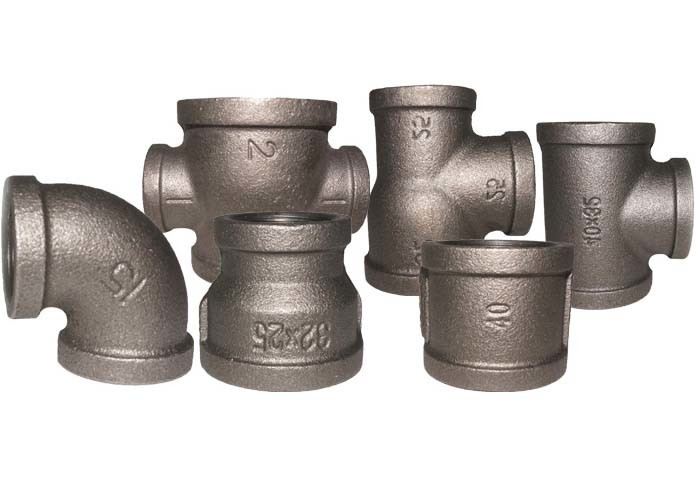 "3/8"" - 4""  Iron Plumbing Fittings 90 Degree Elbow For Municipal Engineering"